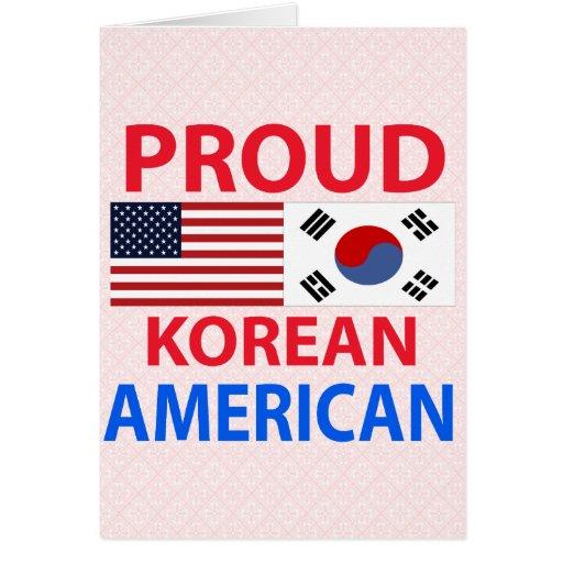 Proud Korean American Greeting Card