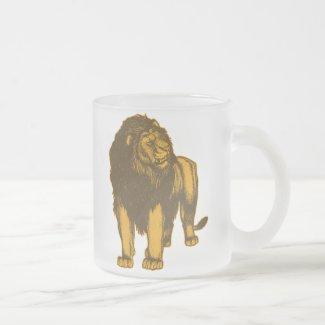 Proud Lion Frosted Mug mug