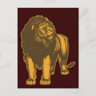 Proud Lion Postcard postcard