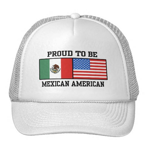 Proud Mexican American Mesh Hat | Zazzle