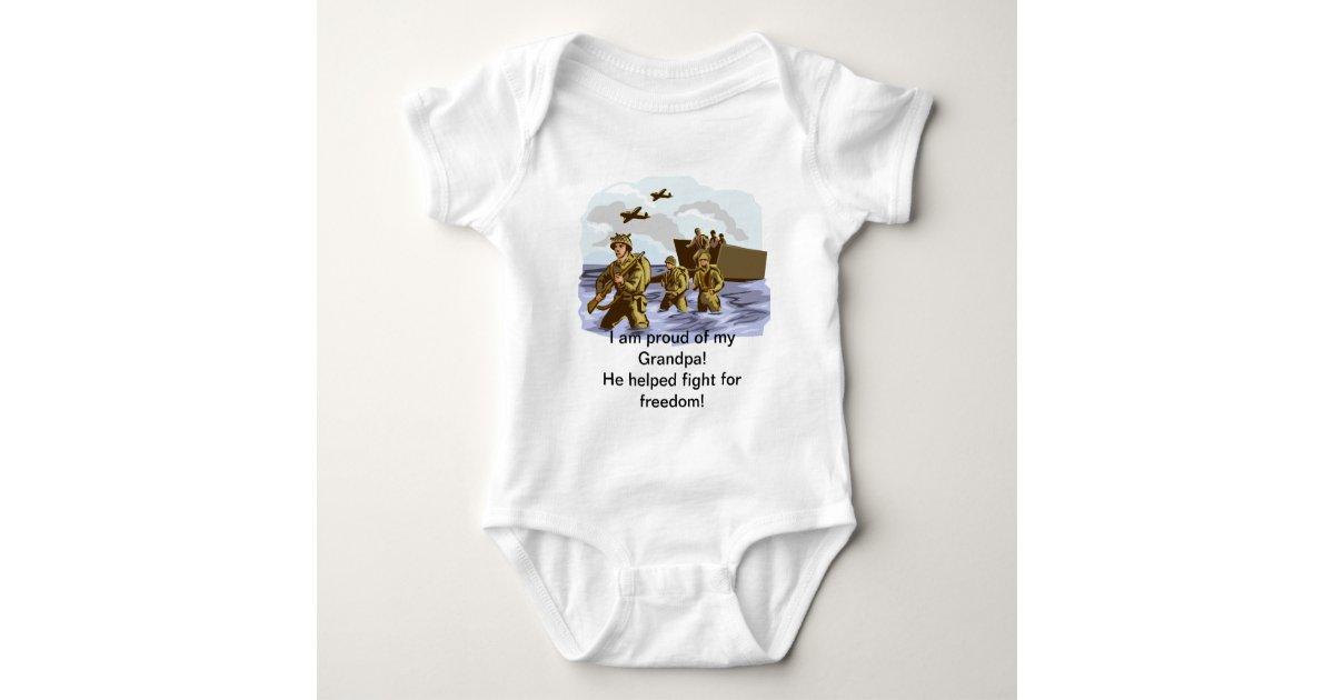 Grandpa Baby Outfit Grandpa Baby Bodysuit Grandpa Baby: Proud War Veteran Grandpa Baby Bodysuit