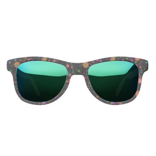 Psychedelic Abstract Bubblez Sunglasses | Zazzle