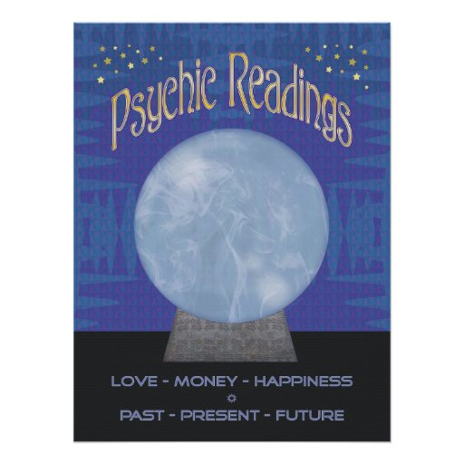 Psychic Readings Poster - Zazzle