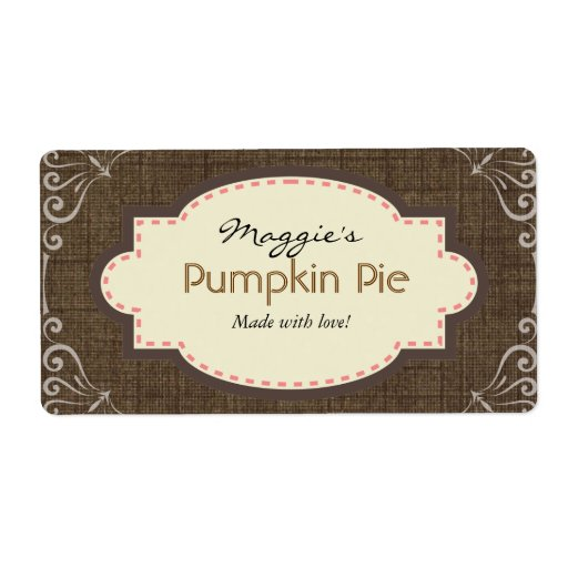 8 up label template - pumpkin pie labels custom template shipping label zazzle