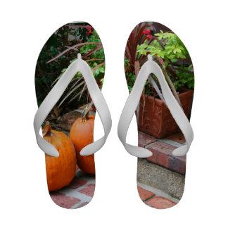 halloween pumpkin flip flops halloween pumpkin sandal footwear for women men. Black Bedroom Furniture Sets. Home Design Ideas