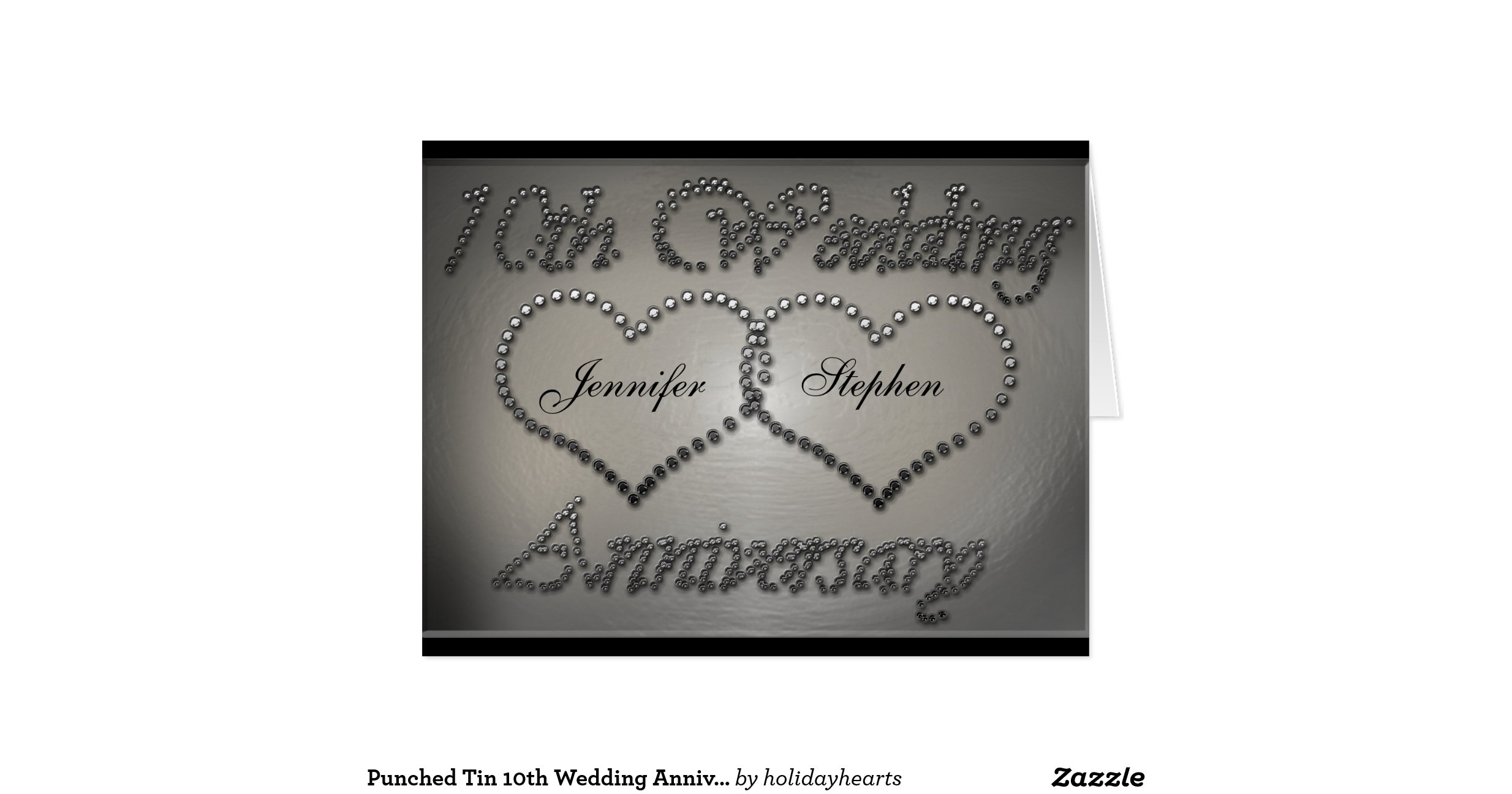 Tin Gifts For 10th Wedding Anniversary: Punched_tin_10th_wedding_anniversary_card