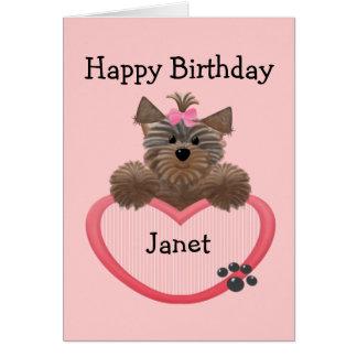 Happy Birthday Janet Pink Cake