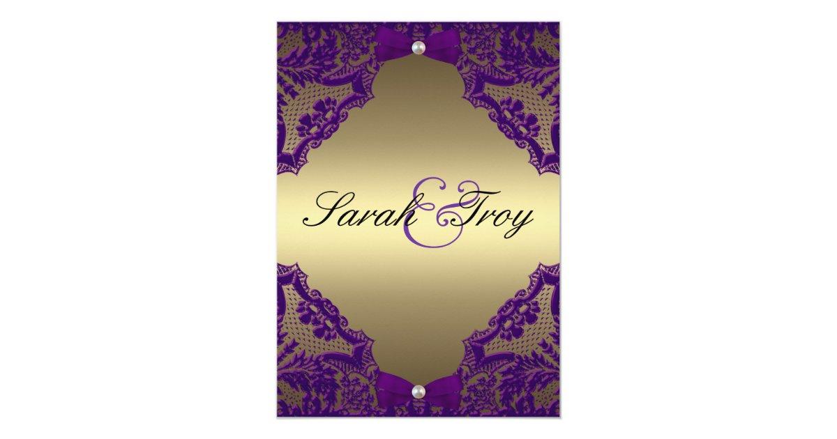 Purple And Gold Wedding Invitations: Purple And Gold Wedding Invitation