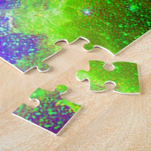 purple and green Galaxy Nebula space image. Puzzle | Zazzle