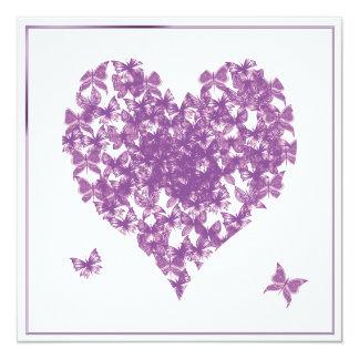 Purple Hearts Wedding Wedding Purple Butterf...