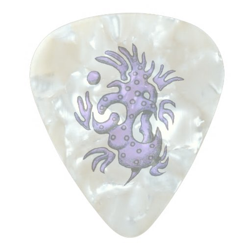 purple design on guitar pick zazzle. Black Bedroom Furniture Sets. Home Design Ideas