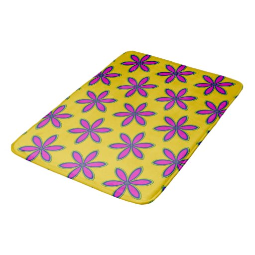 Purple Flower Patch Bathroom Mat Zazzle