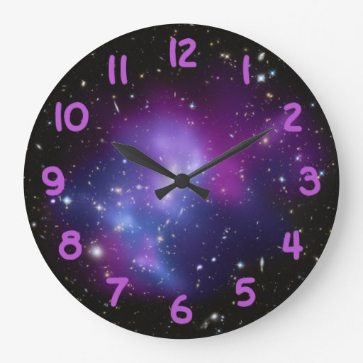 Purple Galaxy Cluster Clocks Zazzle