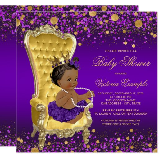Purple And Yellow Baby Shower Decorations
