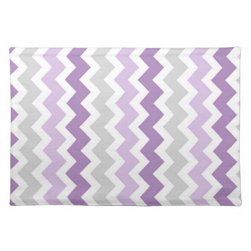 Purple Gray Chevron Pattern Place mats | Zazzle