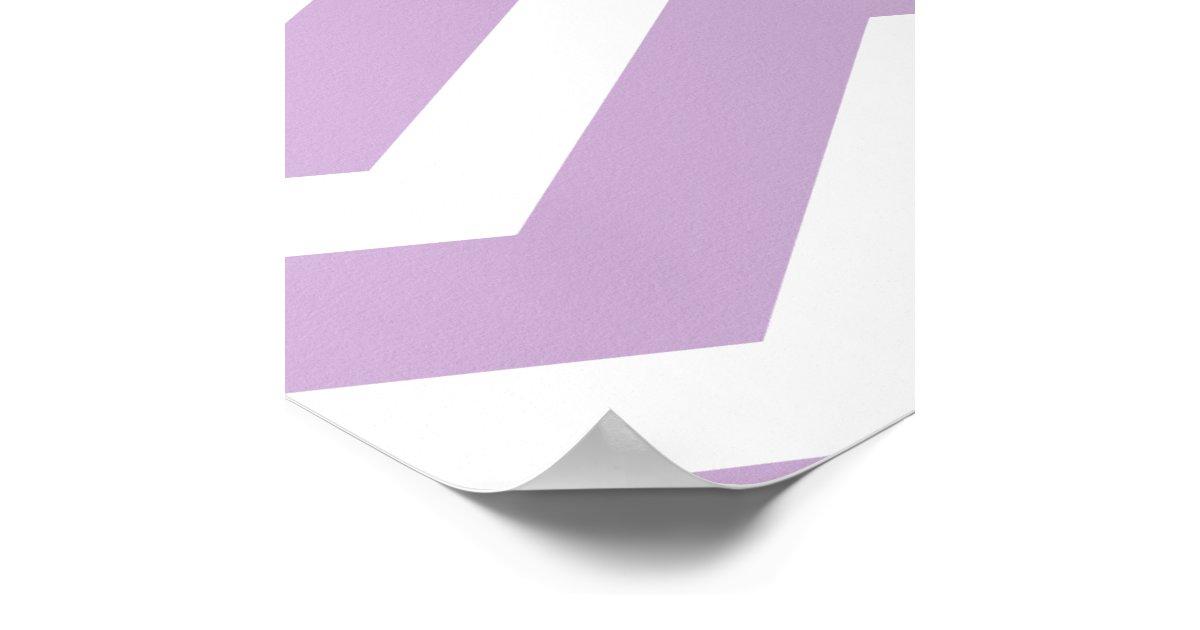 Purple Grey Gray Chevron Custom Poster | Zazzle