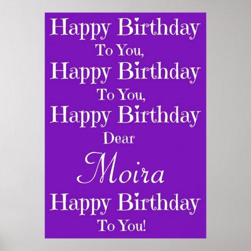 Purple Happy Birthday Song Poster
