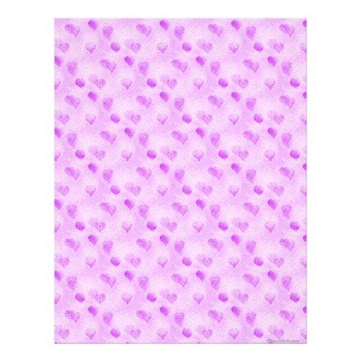 Purple Heart Scrapbook Paper Letterhead Template | Zazzle