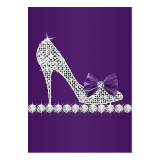 Purple high heel shoe business cards zazzle for High heel template for cards