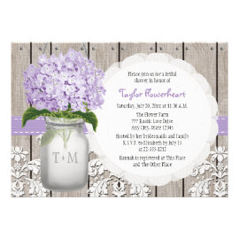 mason jar bridal shower invitations rustic country wedding invitations