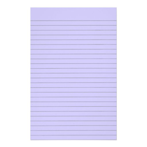 Personalized Papers Executive Stationery: Purple Lined Stationery Personalized Stationery