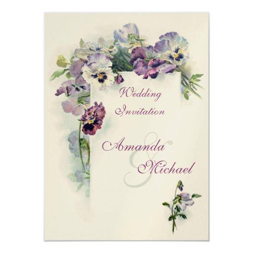 Www Zazzle Com Wedding Invitations: Purple Pansies Wedding Invitation