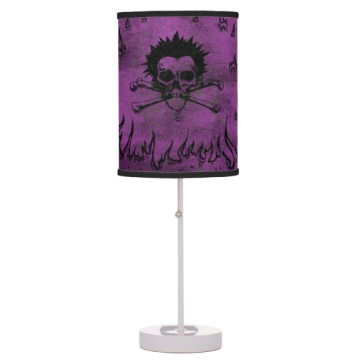 Purple Skull And Bone Table Lamp For Teens Zazzle