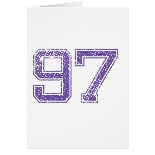 Purple Sports Jerzee Number 97 Png Card