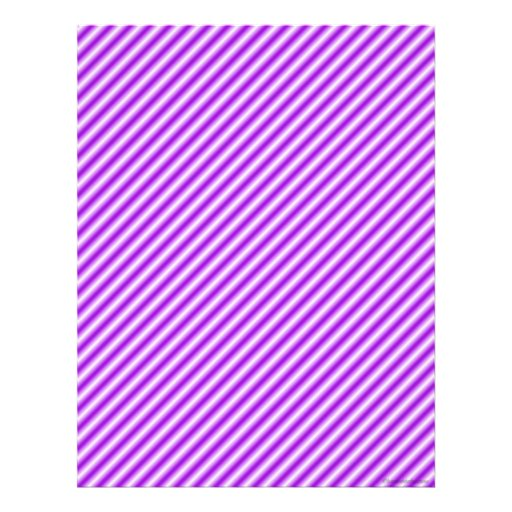 Purple Striped Scrapbook Paper Letterhead | Zazzle