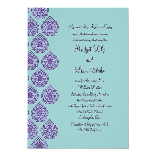 384+ Purple And Turquoise Wedding Invitations, Purple And ...