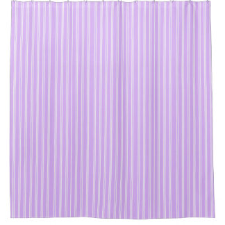 white striped shower Purple curtain and