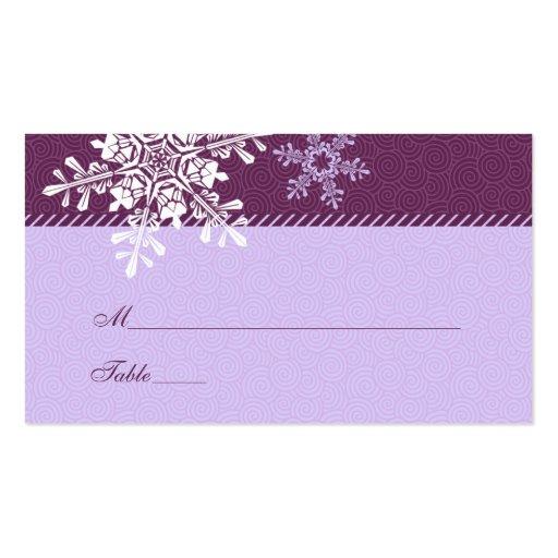 294 purple snowflake business cards and purple snowflake. Black Bedroom Furniture Sets. Home Design Ideas