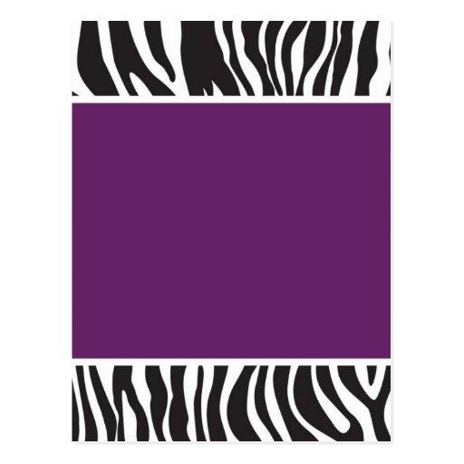 Blank Zebra Invitations | White Gold