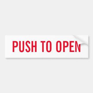 push to open door stickers zazzle. Black Bedroom Furniture Sets. Home Design Ideas