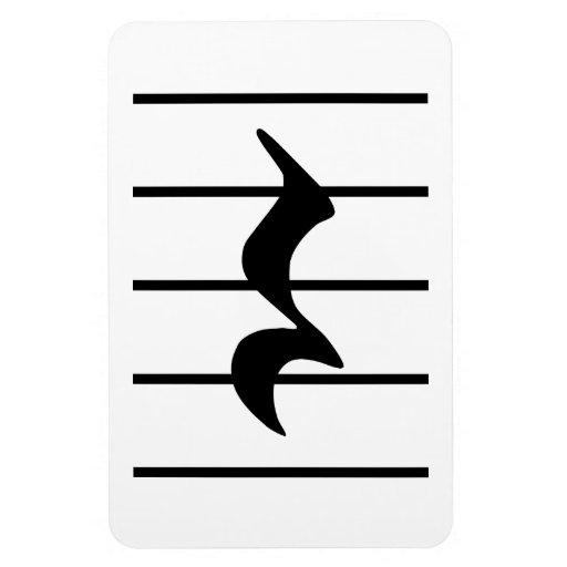 quarter rest rectangle magnets | Zazzle