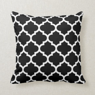 quatrefoil black and white throw pillow. Black Bedroom Furniture Sets. Home Design Ideas