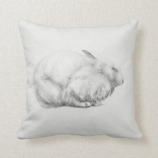 'Rabbit drawing' Pillow | Zazzle