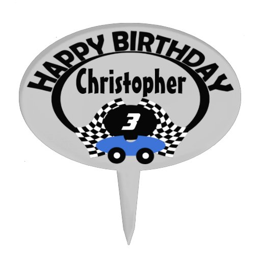Race Car Birthday Cake Toppers