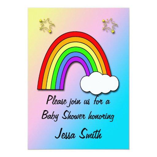 Rainbow Baby Shower Invitations | Zazzle