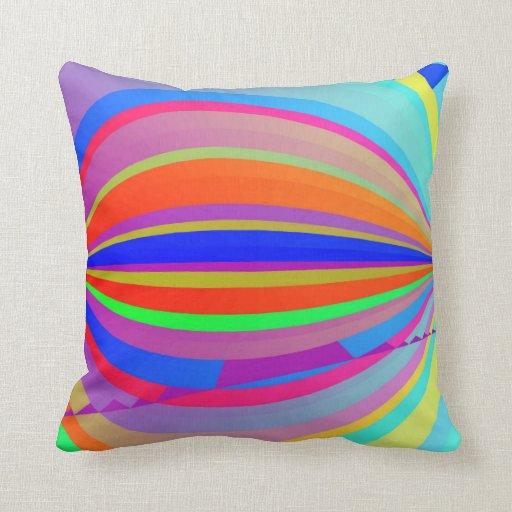 Rainbow Blast Throw Pillow
