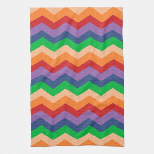 Zig Zag Kitchen: Rainbow Chevron Zig-Zag Kitchen Towels