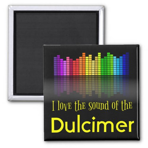 Rainbow Digital Sound Equalizer Dulcimer 2-inch Square Magnet