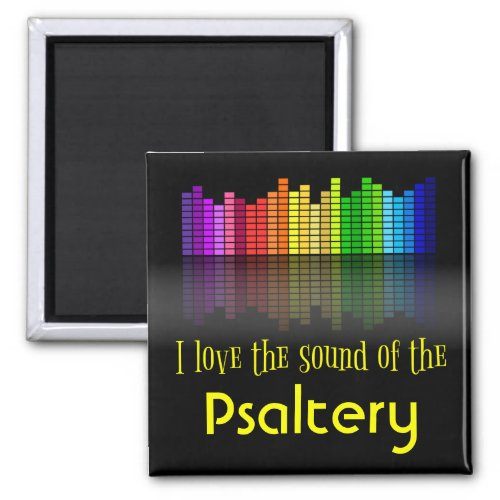 Rainbow Digital Sound Equalizer Psaltery 2-inch Square Magnet