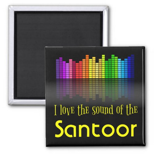 Rainbow Digital Sound Equalizer Santoor 2-inch Square Magnet