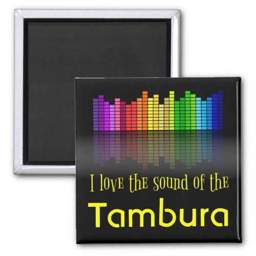 Rainbow Digital Sound Equalizer Tambura 2-inch Square Magnet