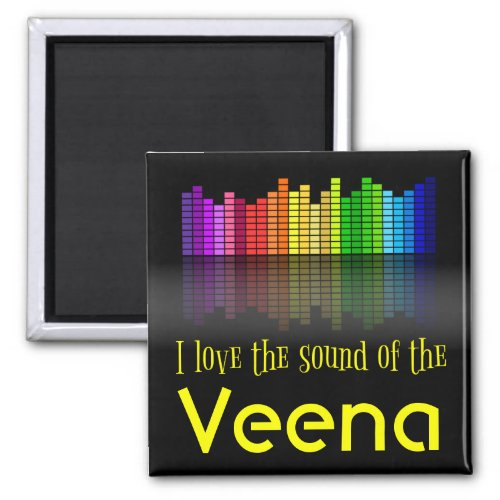 Rainbow Digital Sound Equalizer Veena 2-inch Square Magnet