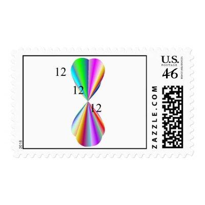 Rainbow Heart Postage Stamp