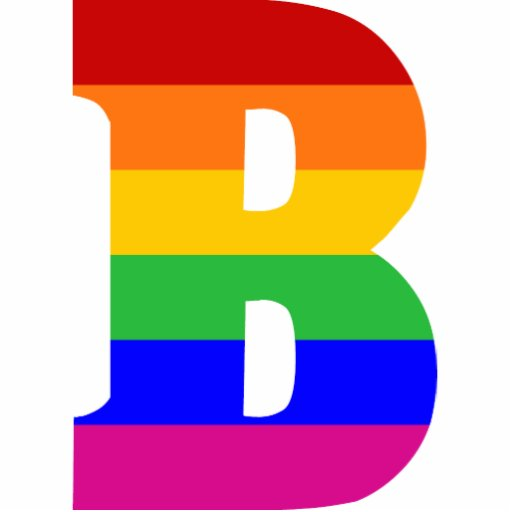Rainbow Letter B Photo Sculpture Ornament