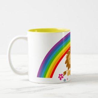 Rainbow Tango-Cute Cartoon Lions Mug mug
