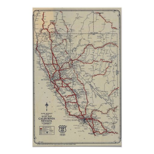 Rand McNally California State Map Rand McNally